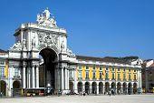 Постер, плакат: Улица Аугуста арка в Лиссабон
