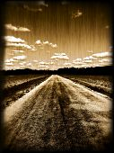 foto of dirt road  - Grungy old photo of a dirt road - JPG