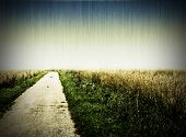 foto of dirt road  - Aged photo of a dirt road - JPG