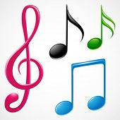image of musical note  - colorful music note - JPG