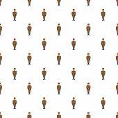 Man In Army Uniform Pattern. Cartoon Illustration Of Man In Army Uniform Pattern For Web poster