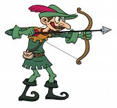 foto of cartoon character  - Robin Hood cartoon character - JPG
