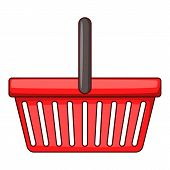 Shopping Basket Icon. Cartoon Illustration Of Shopping Basket Icon For Web Design poster