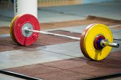 Weightlifting Barbell. Competition poster