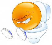 stock photo of poo  - pooping emoticon - JPG
