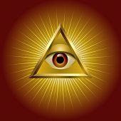 stock photo of all seeing eye  - All seeing eye - JPG
