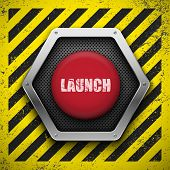 image of nuclear bomb  - Launch button - JPG