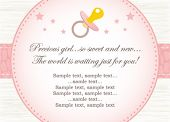 pic of newborn baby girl  - baby girl shower invitation - JPG