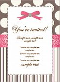 Romantic Pink Retro Invitation card