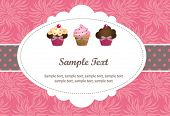 image of cupcakes  - Cute cupcake gift card - JPG