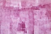 Concrete Wall With Pink Paint Layer, Grungy Background Photo Texture poster