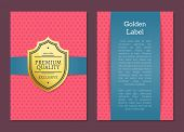 Golden Label Premium Quality Exclusive Since 1980 Guarantee Certificate Poster Design Gold Emblem Me poster