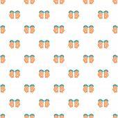 Hands In Handcuffs Pattern. Cartoon Illustration Of Hands In Handcuffs Pattern For Web poster