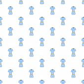 Men Tennis Uniforms Pattern. Cartoon Illustration Of Men Tennis Uniforms Pattern For Web poster