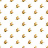Clockwork Mouse Pattern. Cartoon Illustration Of Clockwork Mouse Pattern For Web poster