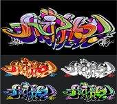 Fondo de vector de graffiti