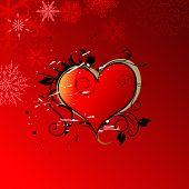 Постер, плакат: Фон сердца Валентина день