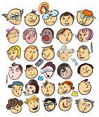 Постер, плакат: лицо люди мультфильм