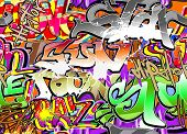 Graffiti wall vector abstract background