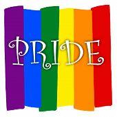 Rainbow Gay Pride Flag, Symbol Of Sexual Minorities, Gays And Lesbians, Prinde poster
