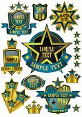 Gold Framed vector label templates