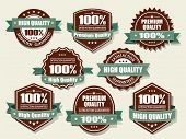 Premium and High Quality Labels with retro vintage design