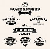 Satisfaction Guarantee Label and Vintage Premium Quality collection