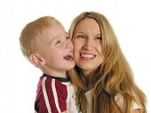 pic of mother child  - mother with child smile - JPG