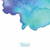 Abstract Watercolor Background. Hand Drawn Watercolor Backdrop, Texture, Stain Watercolors On Wet Pa poster
