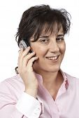Smiling Woman Talking With Phone