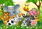 cartoon animal na selva