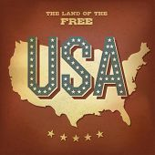 USA abstract retro poster design. Raster version, vector file available in portfolio