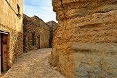 foto of ares  - Landscape with old spanish town Ares - JPG