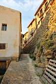 stock photo of ares  - Landscape with old spanish town Ares - JPG