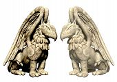 picture of gatekeeper  - 3d statues griffin from stone - JPG