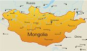 picture of bator  - Abstract vector color map of Mongolia country - JPG