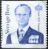 SWEDEN - CIRCA 2000: stamp printed by Sweden shows King Carl XVI Gustaf circa 2000