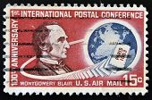 stamp printed in USA shows Montgomery Blair