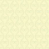 Sinuous seamless pattern with hearts