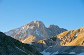 stock photo of apennines  - Corno Grande And Corno Piccolo Peak - JPG