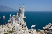 stock photo of swallow  - famous castle near Yalta - JPG