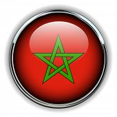 Morocco flag button
