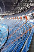 MADRID - MARCH 8: Grandstand of Santiago Bernabeu Stadium - arena of soccer club Real Madrid, on Mar
