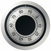 stock photo of combination lock  - Vector illustration of a mechanical combination lock - JPG