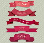 picture of coupon  - Set of Superior Quality and Satisfaction Guarantee Ribbons - JPG