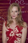 NEW YORK-DEC 16: Actress Uma Thurman attends the 11th annual Tibet House US Benefit Auction at Chris