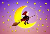 picture of epiphany  - an illustration of funny Epiphany at moonlight with moon - JPG