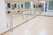 foto of ballet barre  - the image of a ballet barre - JPG