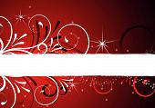 picture of merry christmas  - christmas background with floral design and ornaments - JPG