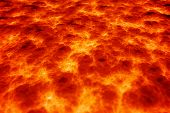 stock photo of boil  - Computer generated abstract background of magma lava - JPG